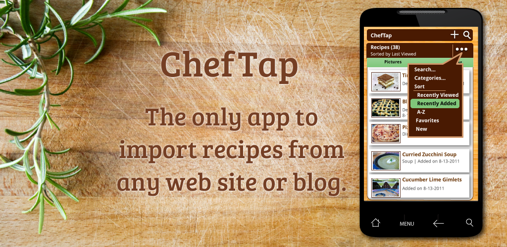 Cheftap recipe app free the first android app to automatically cheftap recipe app free the first android app to automatically import your favorite forumfinder Images