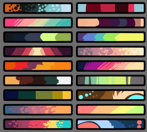 Smol Punks Color Palette 3 F2u By Tanthea On Deviantart Color Palette Challenge Palette Art Color Palette