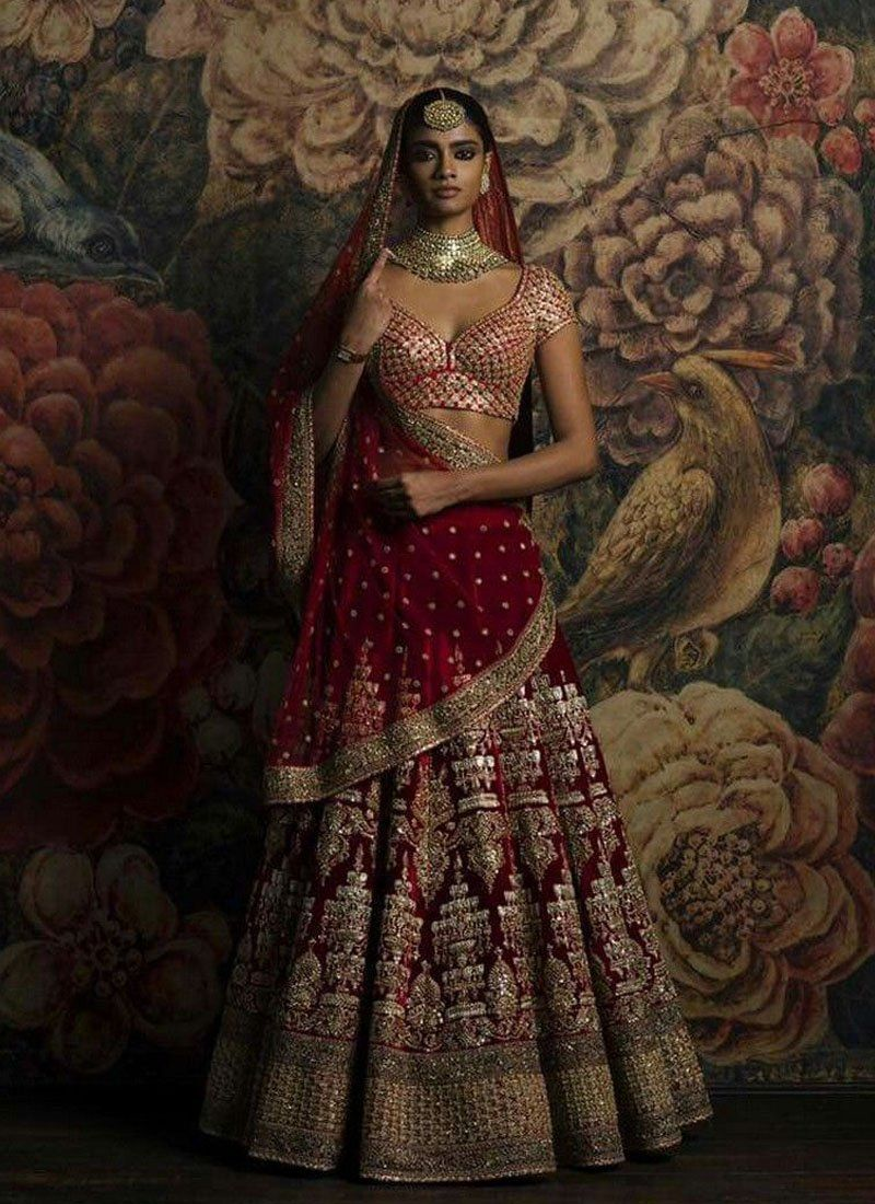 22680bb5ce3f Exclusive Heavy Designer Beautiful Maroon Color Bridal Lehenga Choli- STYLIZONE