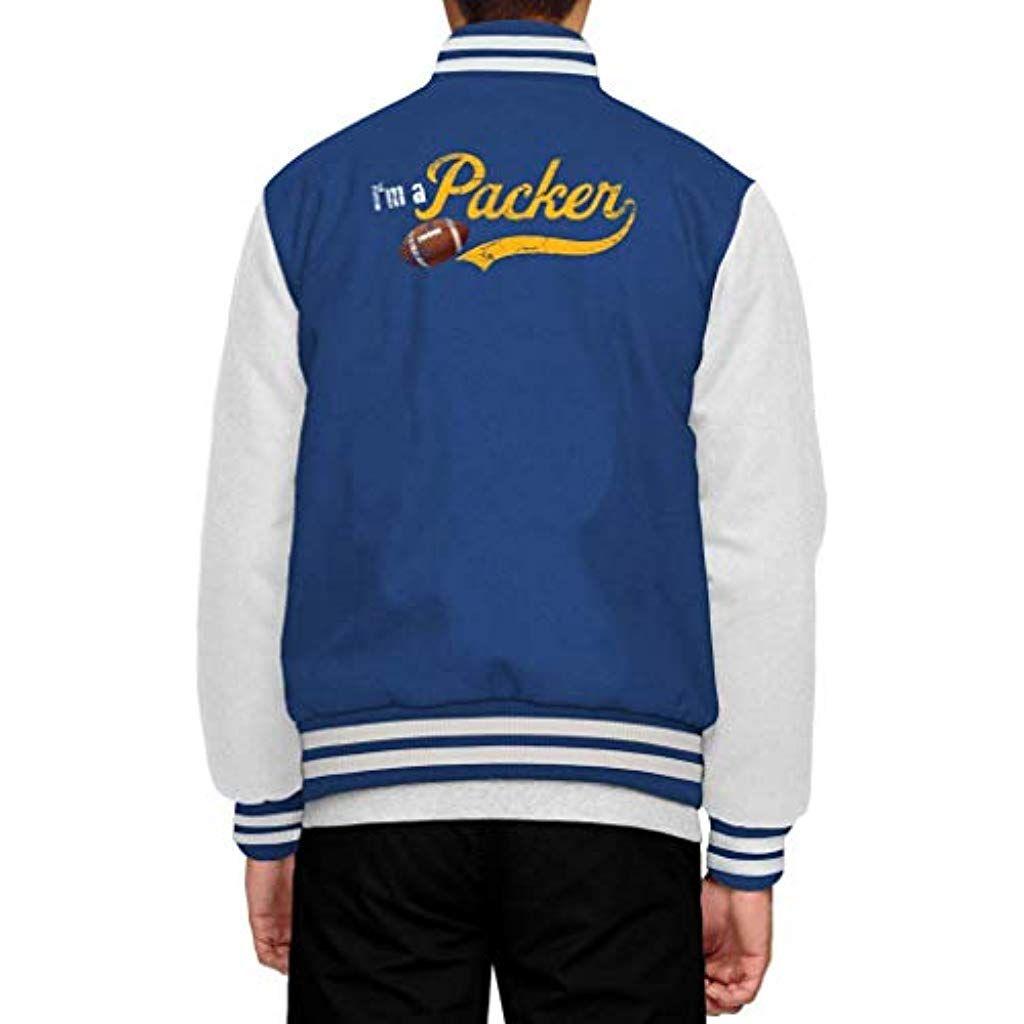 Im A Packer Green Bay Packers The Pack Football Premium Collegejacke Herren Jacke Baseballjacke Bekleidung Herren Sweatsh Collegejacke Jacken Baseball Jacke