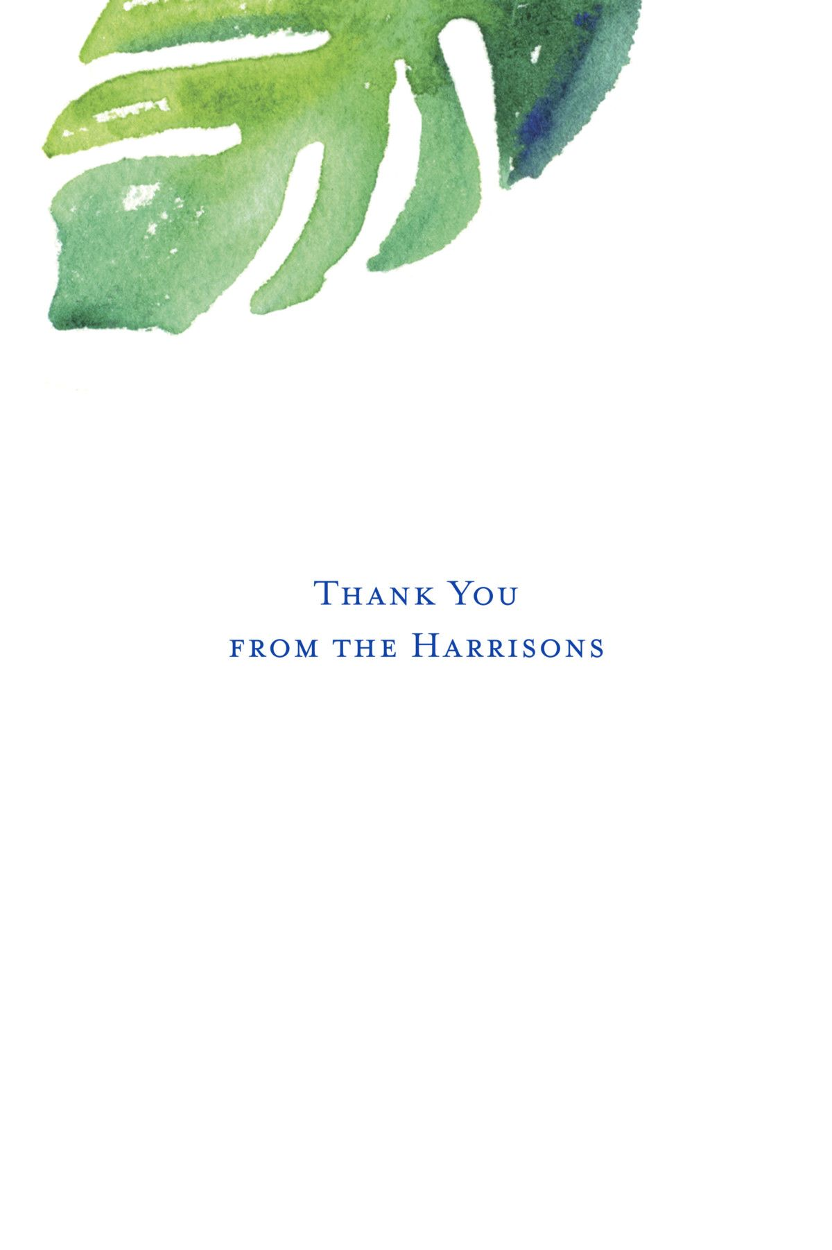 thank you note for vacation trip