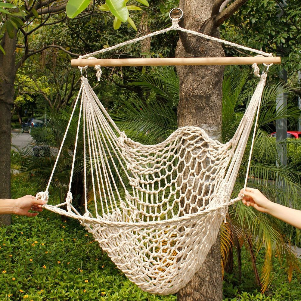 Rope hanging air sky chair swing products pinterest cotton
