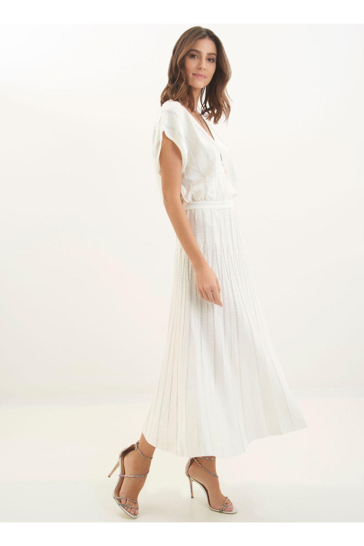 Vestido le lis blanc tricot