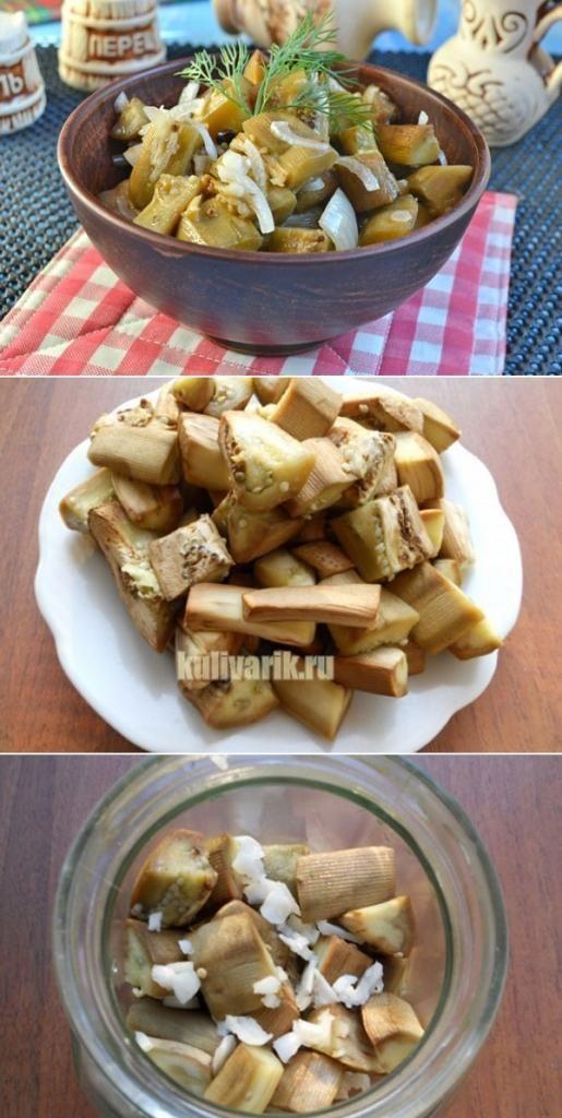 баклажаны со вкусом грибов на сковороде