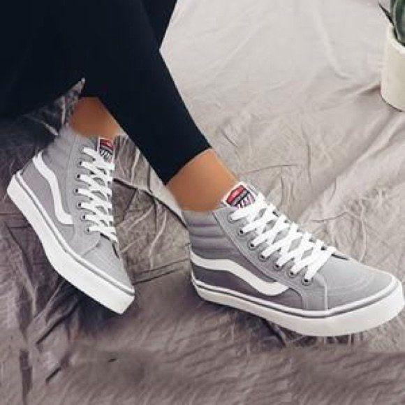Vans Shoes | Hi-Sk8 Light Grey Vans