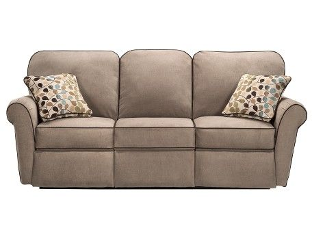 Awesome Jenna Collection   Taupe Reclining Sofa SLUMBERLAND Lazy Boy