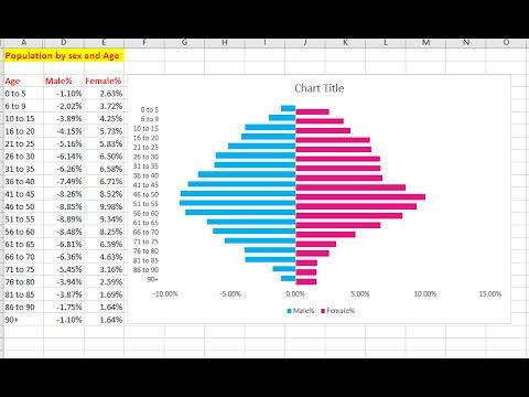 How to create a Population Pyramid Chart in Excel - YouTube Info - chart excel