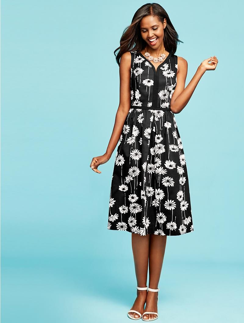 Daisy Fit And Flare Dress Talbots Fashion Fit And Flare Dress Autumn Fashion Women [ 1057 x 800 Pixel ]