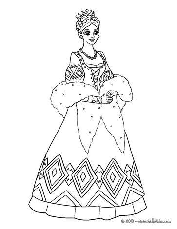 Russische Prinzessin zum Ausmalen | Prinzessin | Pinterest