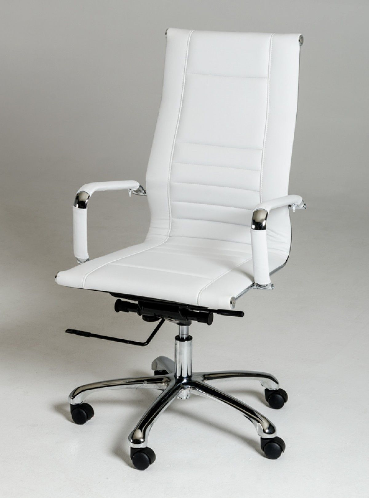 Modrest Harrison Modern White Leatherette Office Chair VGLFWX-14B-WHT
