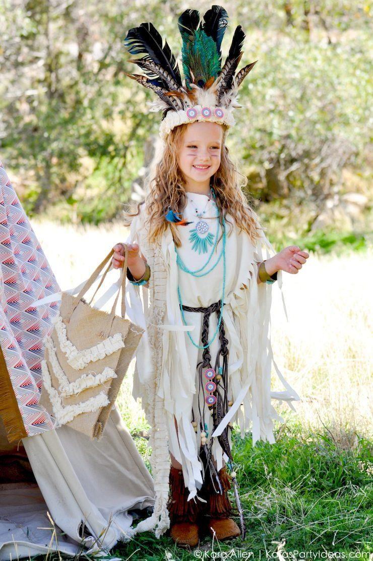 NO SEW DIY Sacagawea indian halloween costume by Kara Allen ...