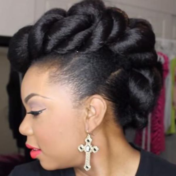 Mohawk Updo Hairstyle For Weddings Natural Hairstyles Pinterest