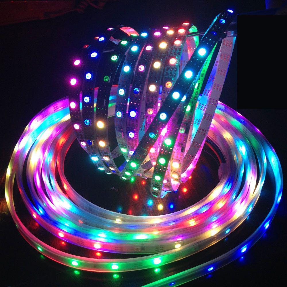 1m/5m DC5V individually addressable ws2812b led strip ws2811ic Built-in  30/60/144 pixels, smart rgb led light tape ribbon IP67 //Price: $14.64 &  FREE ...
