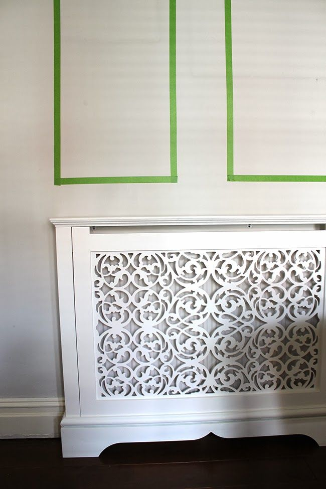Living Room Wall Progress My New Jali Radiator Cover