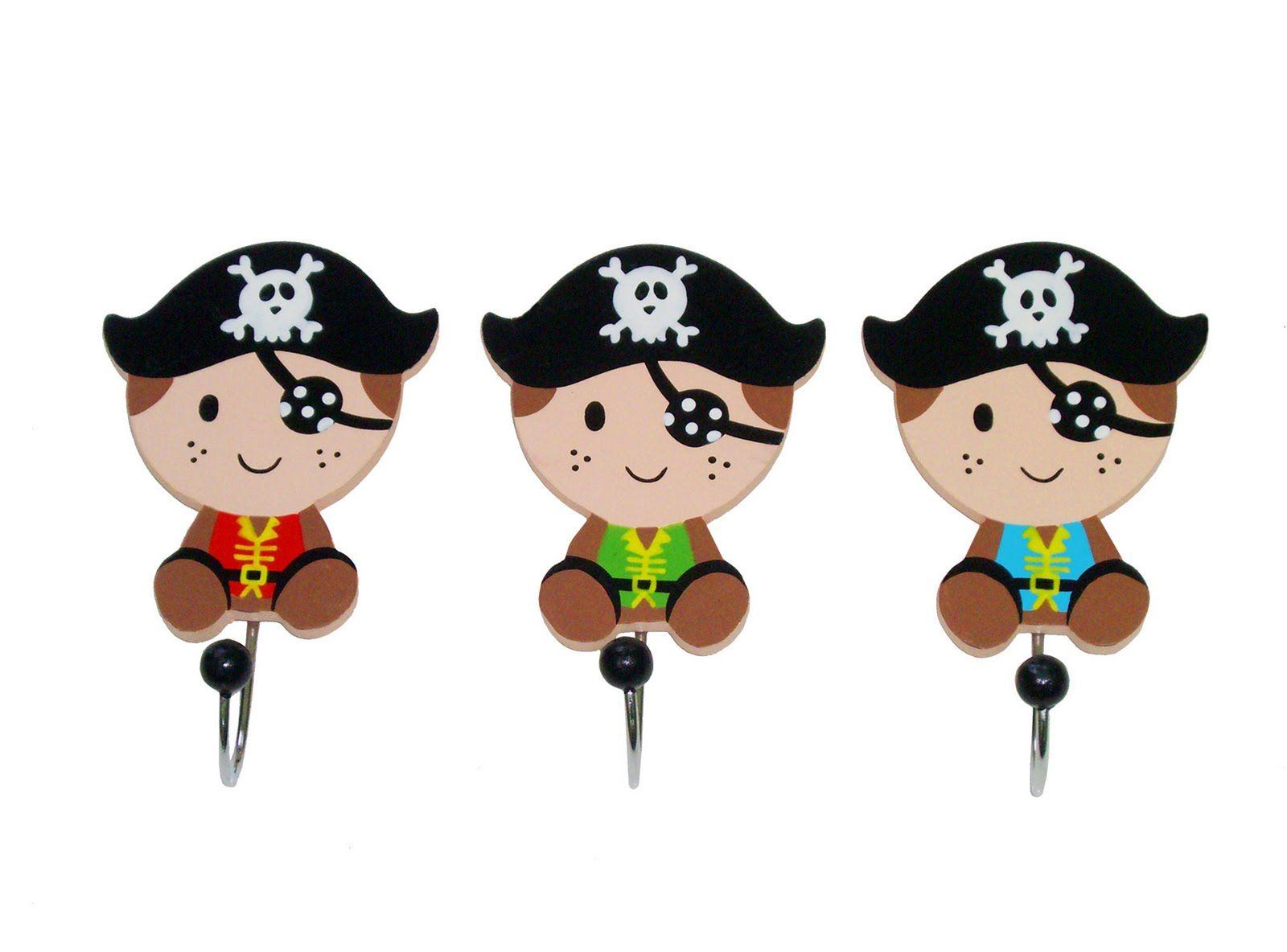 diseo de juguetes y objetos para nios percheros piratas