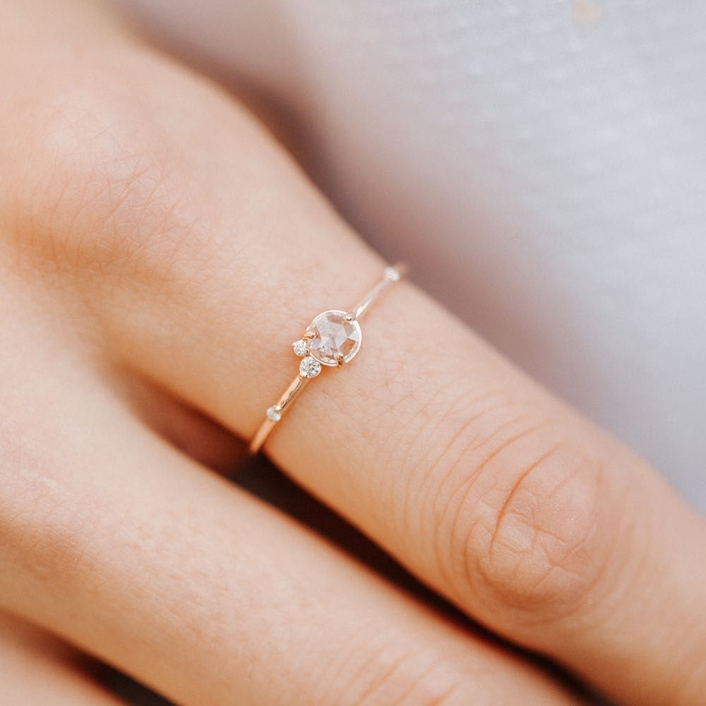 Dainty Pearl Ring Minimalist Pearl Ring Thin Band Stackable Ring Delicate Eternity Band 9k Dainty Minimalist Ring Gold Ring