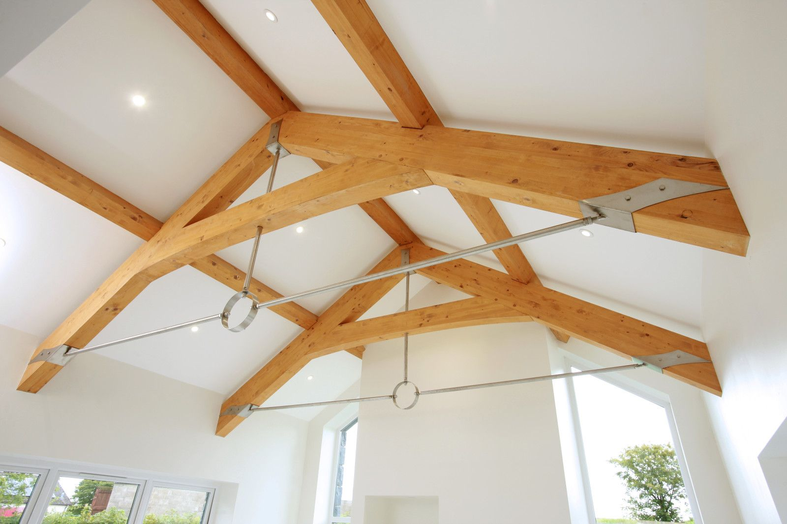 Glulam Beams Glenfort Feature Truss Ireland Northern Ireland Roof Trusses Beams Timber Ceiling