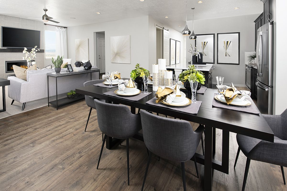 enjoyable dinner parties start here moonstone model home kitchen nook springville utah on kitchen nook id=33864