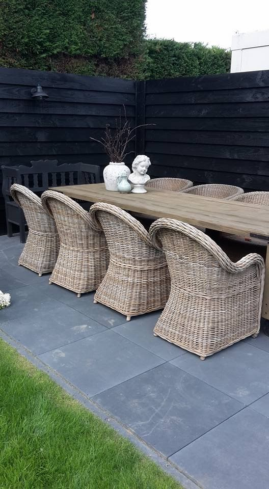 Pin By Mirjam Hindriks On Tuin Outdoor Furnishings Outdoor Rooms Outdoor Dining Room