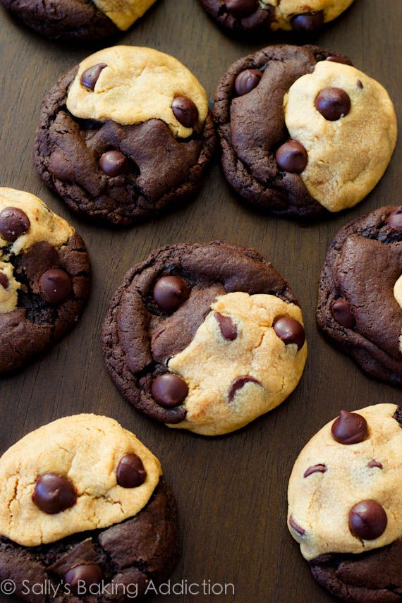 Soft-Baked Peanut Butter Chocolate Swirl Cookies. The BEST!