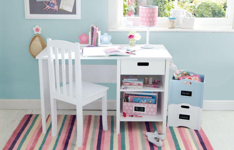 Homework Help Setting Up For Homework With Organization In Mind With Images Childrens Desk Childrens Furniture Kid Desk