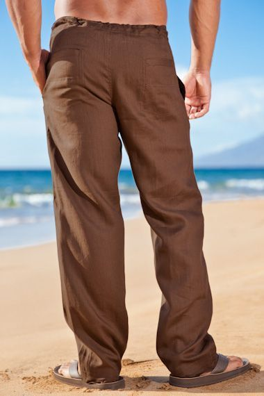 48d8a100d Island Importer - Chocolate Linen Riviera Pant | Pants For Mens ...
