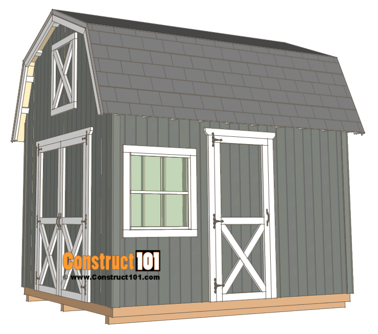 10x12 Barn Shed Plans Construct101 Barns Sheds Building A Shed Shed Plans