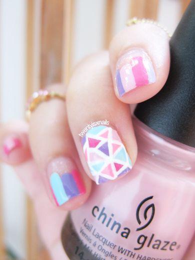 Geometric Nails Midi Rings Geometric Nail Art Glass Nail Art