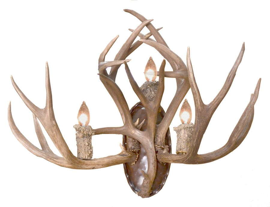 faux glass amazon deer antler high com wall candle dp sconces antlers light sconce