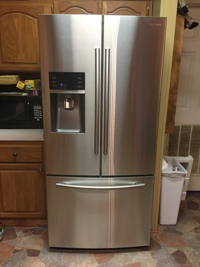 Samsung 33 In. W 25.5 Cu. Ft. French Door Refrigerator In Stainless Steel  RF26J7500SR At The Home Depot   Mobile