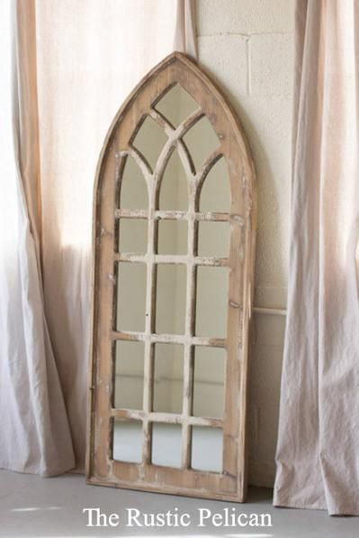 Mirror Tall Wooden Church Mirror In 2019 Rustic