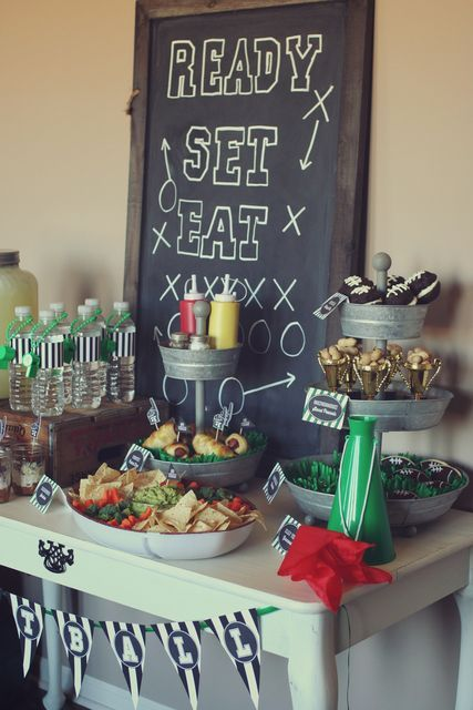 Football And Super Bowl Birthday Party Ideas Tailgate Inspiration