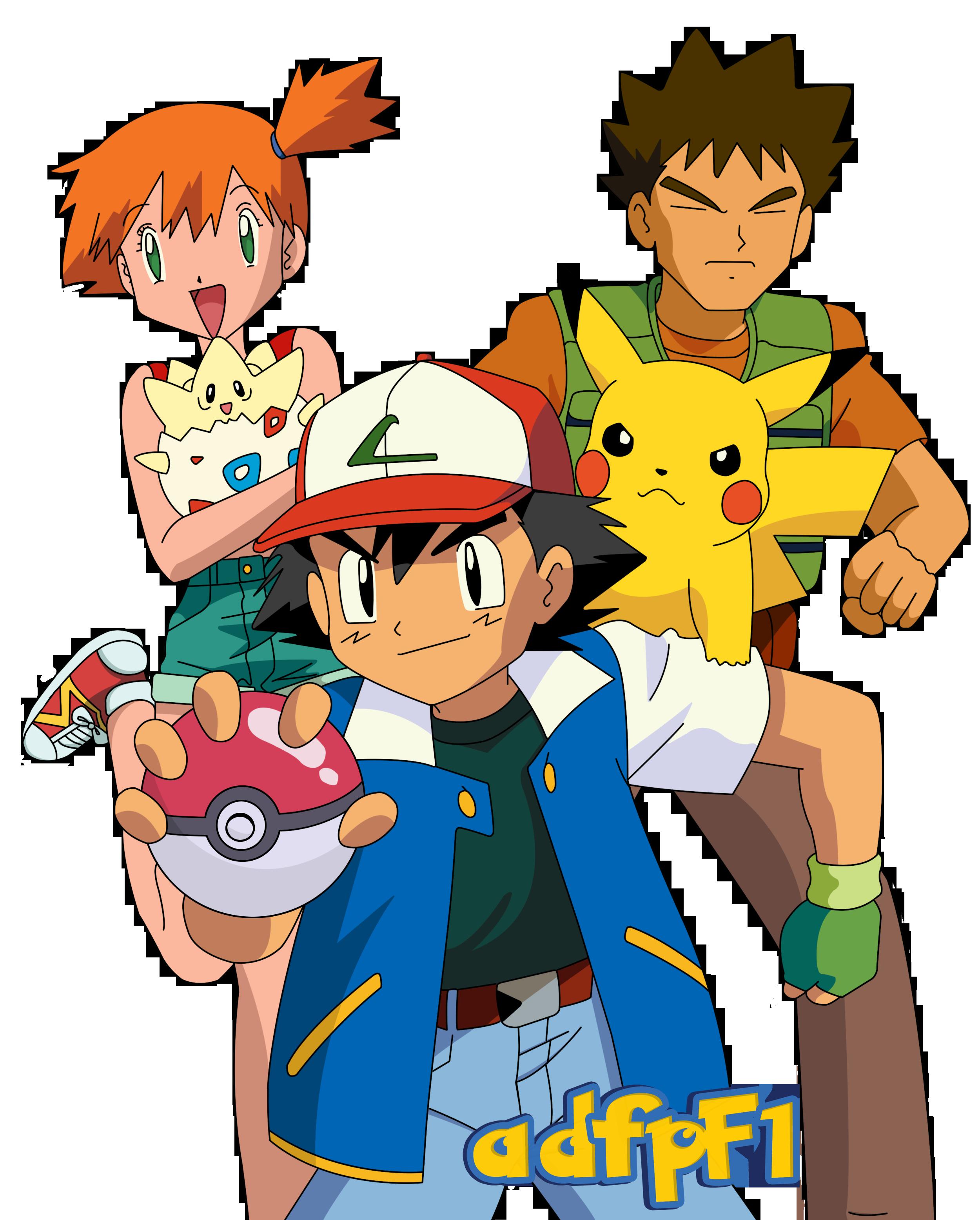 Ash Misty Brock Pikachu Y Togepi By Adfpf1 On Deviantart Pokemon Ash And Misty Cute Pokemon Pokemon