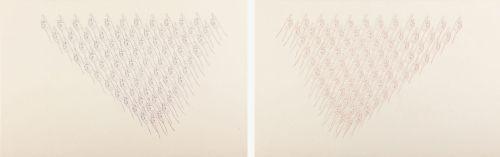 합창, 한지에 수묵채색, 윤기언, 각 70cm x110cm,2010