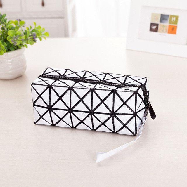 Ladies Folded Geometric Plaid Bag Women Fashion Casual wallets Bao