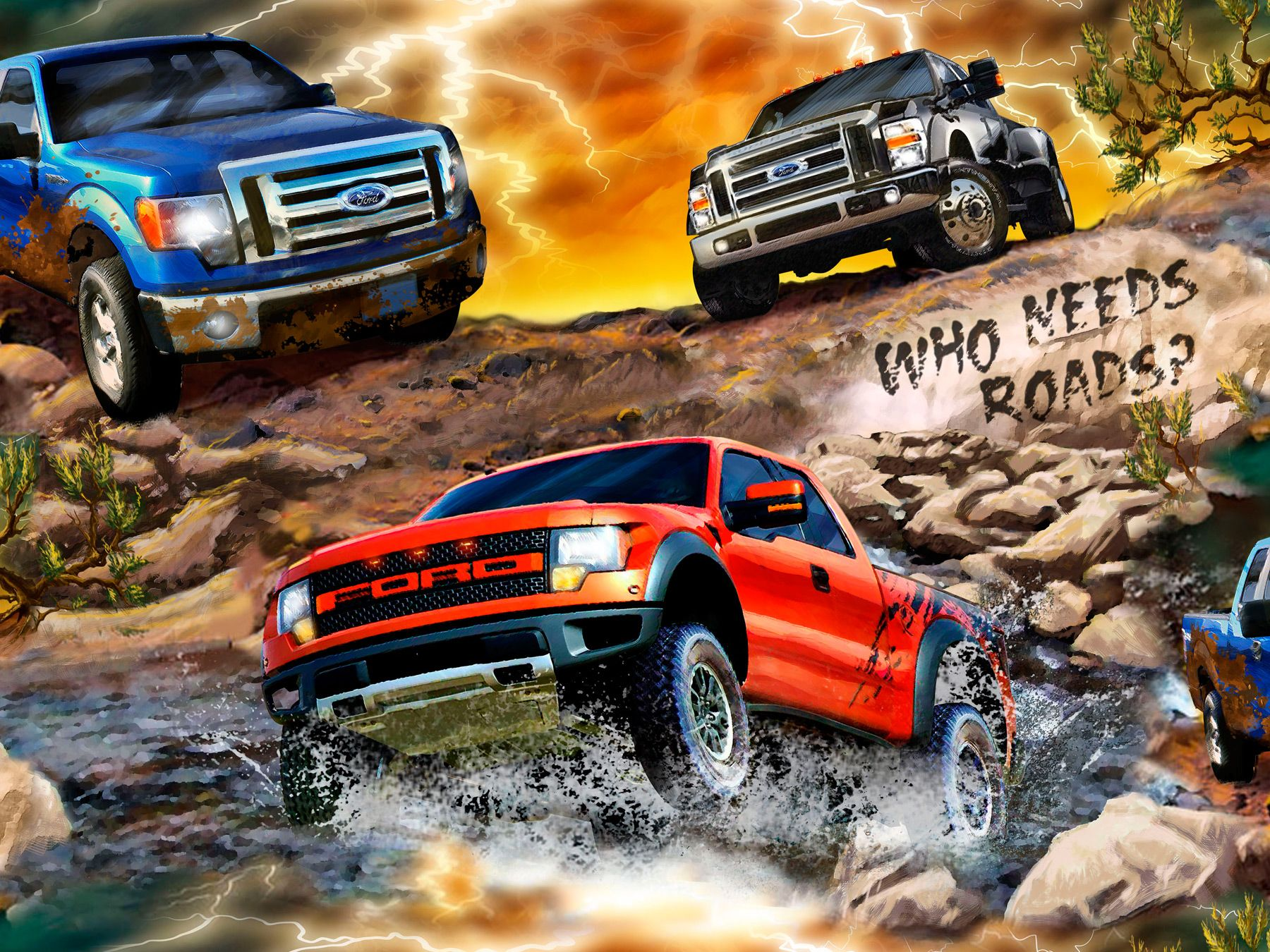 We cannot forget our monster truck fabric showing the f150 for Monster truck fabric