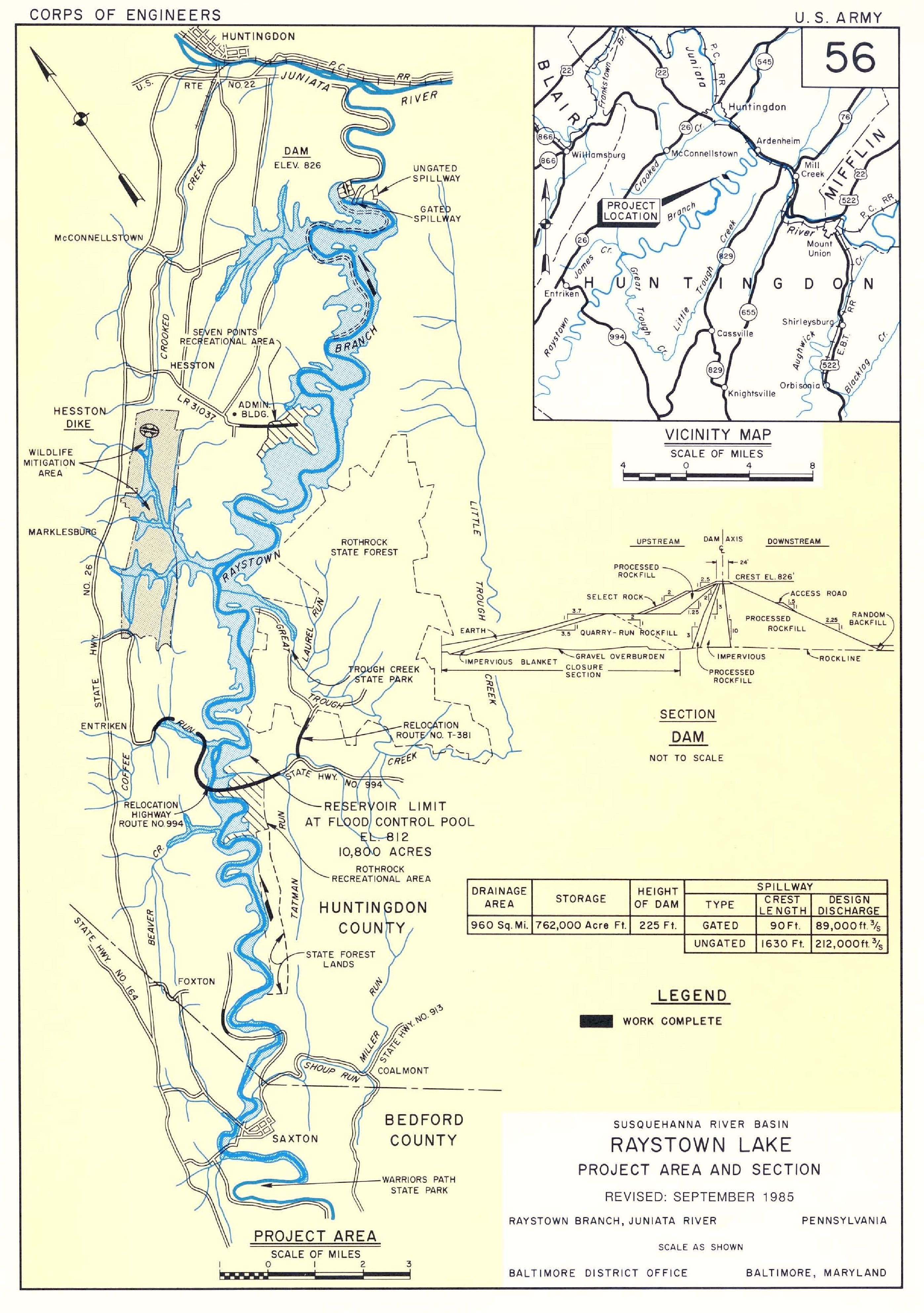 Raystown Lake Map river map of lake raystown | map of raystown lake photo by u s  Raystown Lake Map