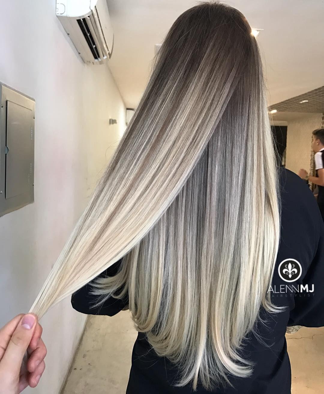 Technique Ombre Foils Teasing Technique 100 Hair Bleached Proces Using L Oreal Multitechnique 8 Bleach With Hair Styles Long Hair Styles Ombre Hair