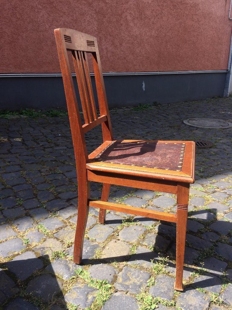6 Sthle Holzsthle antik in Frankfurt Main  Nordend