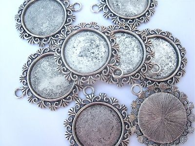 Antique silver picture frame pendants in our sale lovely beads antique silver picture frame pendants in our sale mozeypictures Gallery