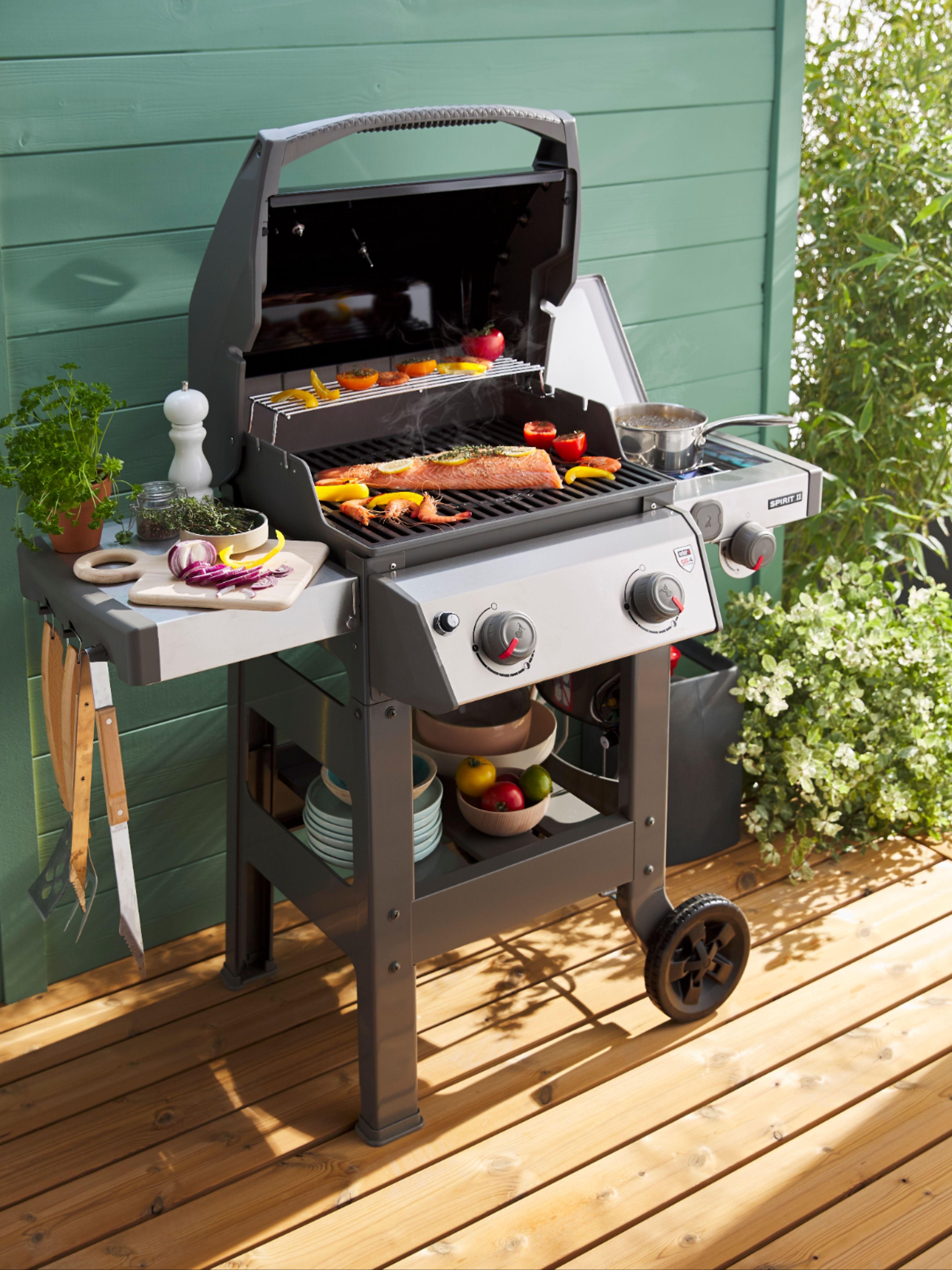 Barbecue Charbon de Bois Extérieur Jardin Moderne Carré
