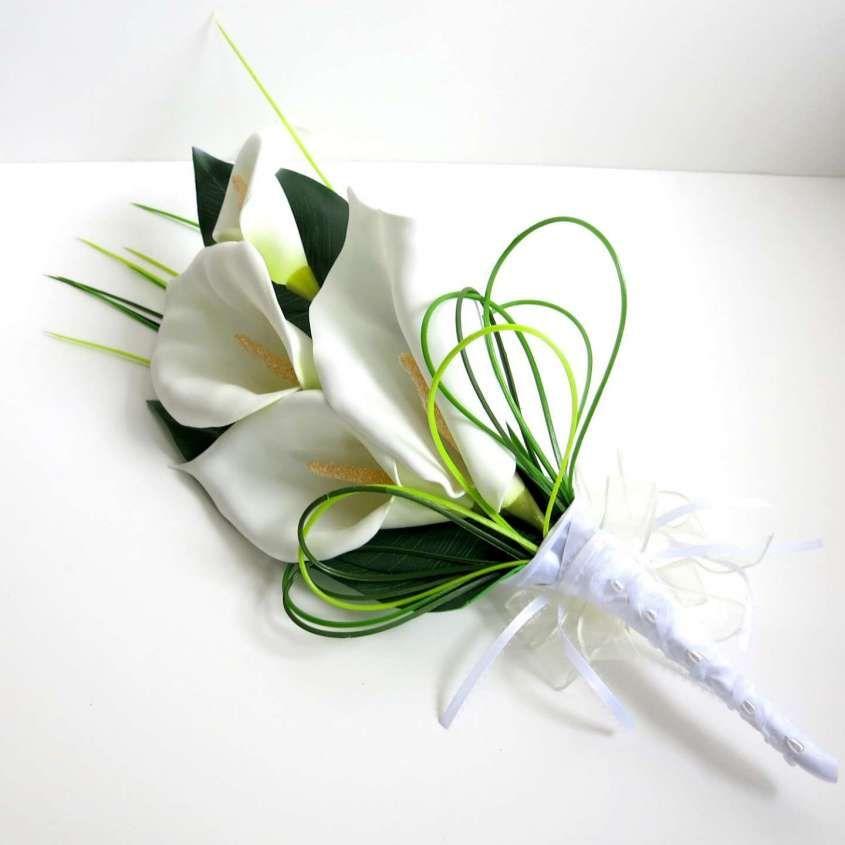 Bouquet Da Sposa Con Calle.Bouquet Da Sposa Con Le Calle Bouquet Minimal Bianco