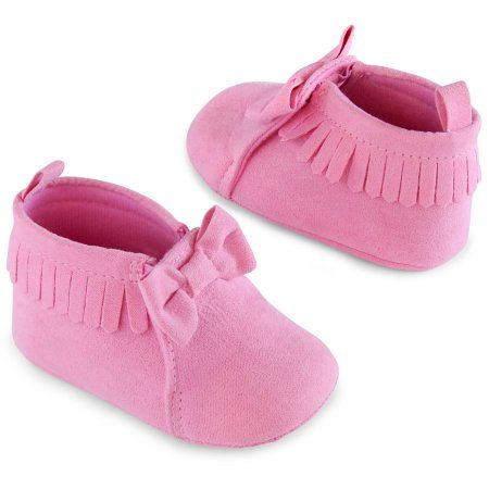 5a7ae6832c58b Child of Mine by Carter's Newborn Baby Girl Moccasins, 0-6M, Size: 0 - 3  Months, Pink
