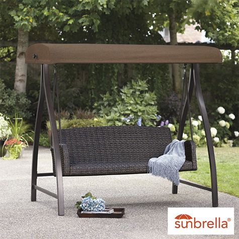 Agio 3 Seat Cape Town Woven Swing With Canopy Costco Uk