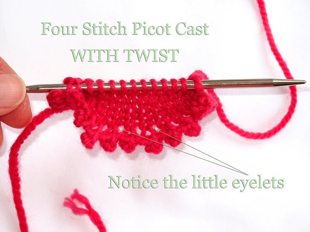 Knitting Casting On Tutorial : Heidi bears the pretty picot cast on a tutorial