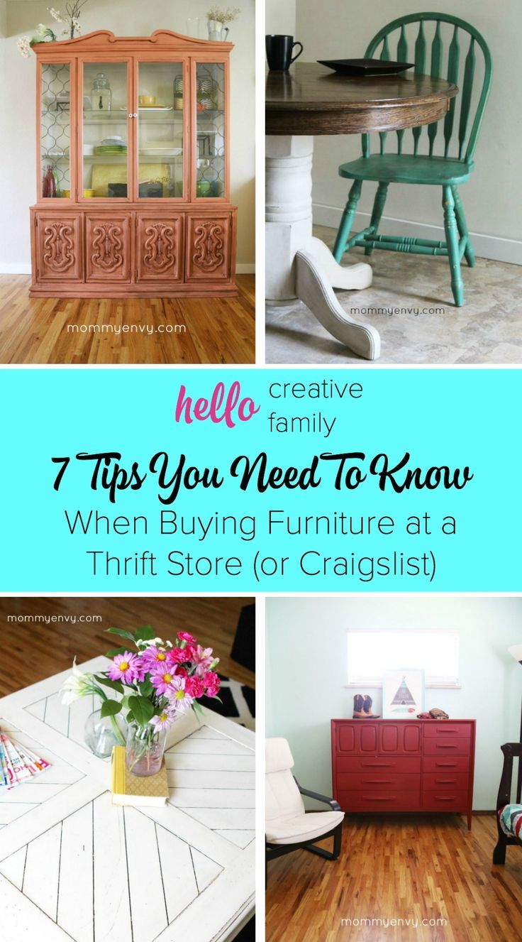 Buying Furniture At A Thrift Store Or Craigslist 7 Tips You Need To Know Pin It And Be