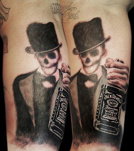 jack daniels flasche tattoo