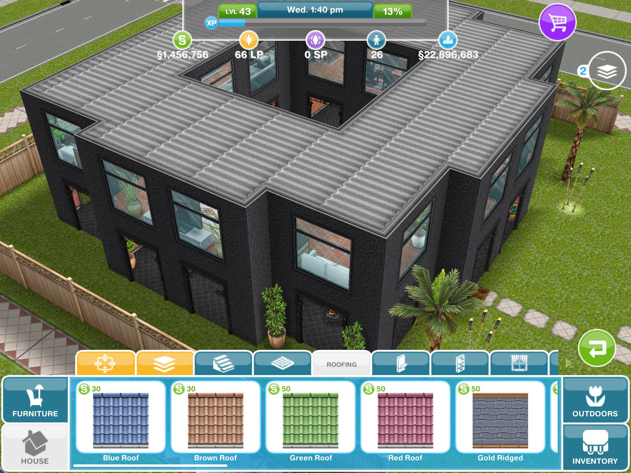 Variation On Stilts House Design I Saw On Pinterest Thesims Freeplay Simsfreeplay