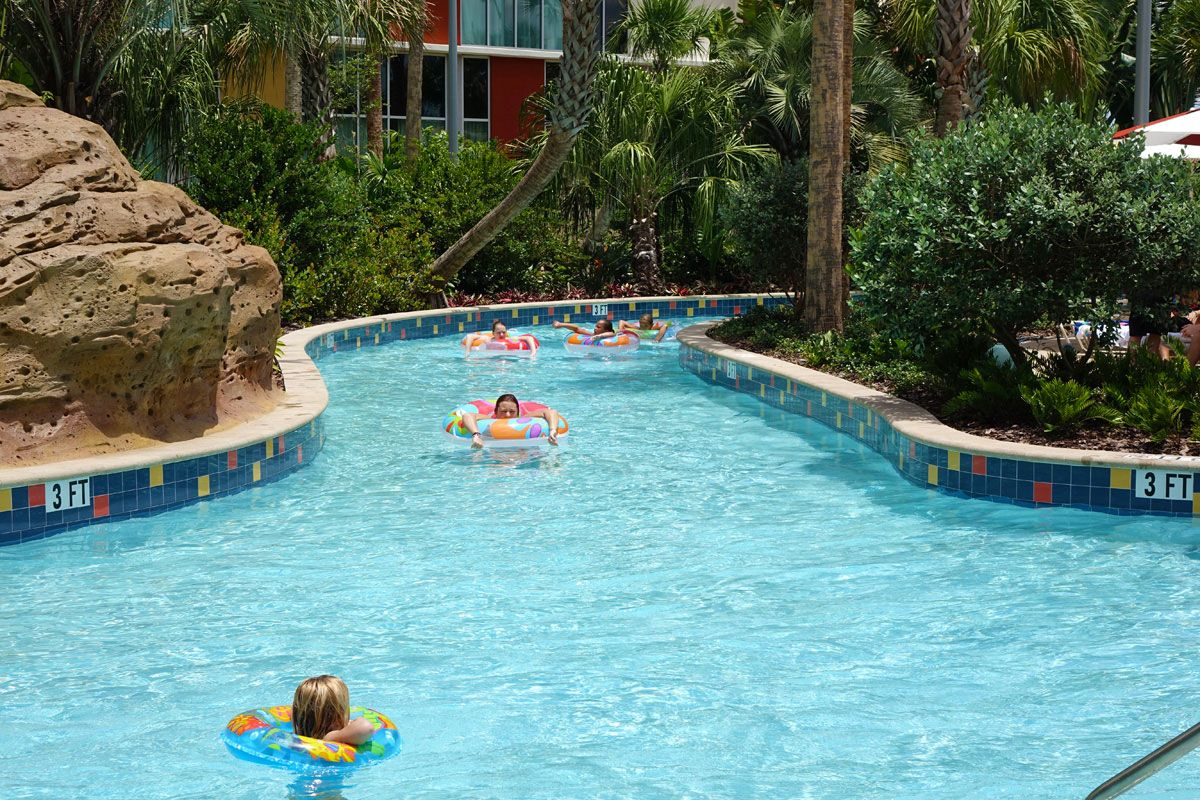 The Lazy River And Huge Water Slide As Well All Several Hot Tubs At Hotel Is Gonna Be Sweet D