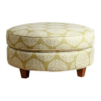 309 Chastain Fabric Round Ottoman 36 X 17 Round Ottoman Ottoman Linen Ottoman